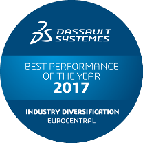 Dassault Systèmes Award best performance 2017 diversification Eurocentral